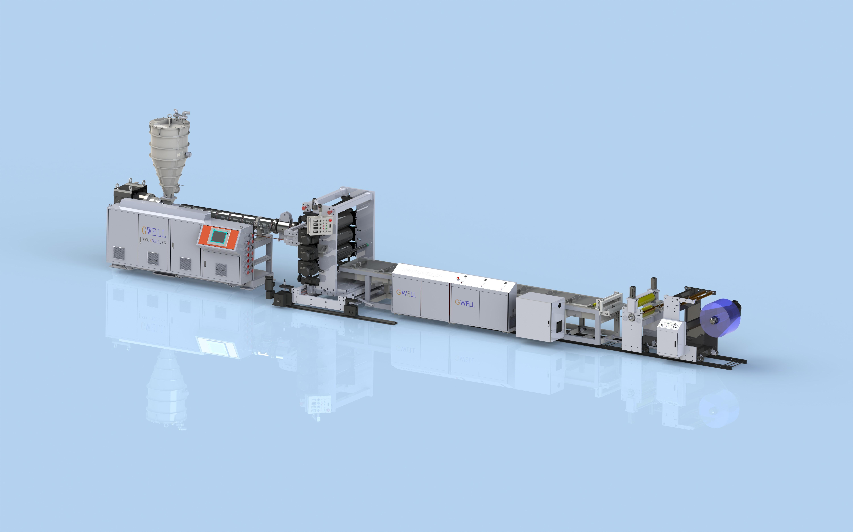 PVC超透门帘生产线