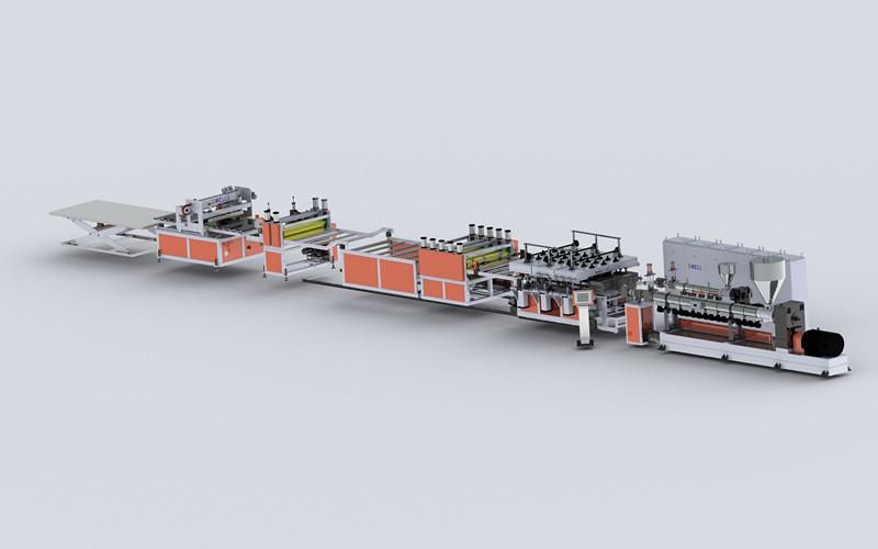 PP塑料中空建筑模板生产线